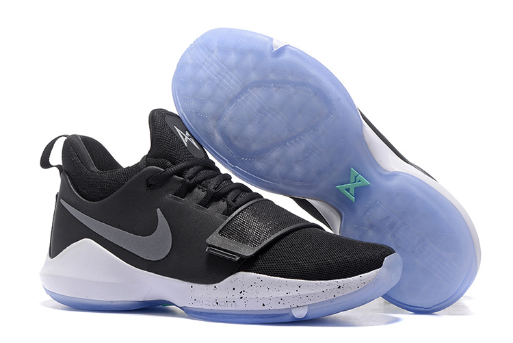 Nike PG 1 Ferocity Black White Blue Sole Shoes