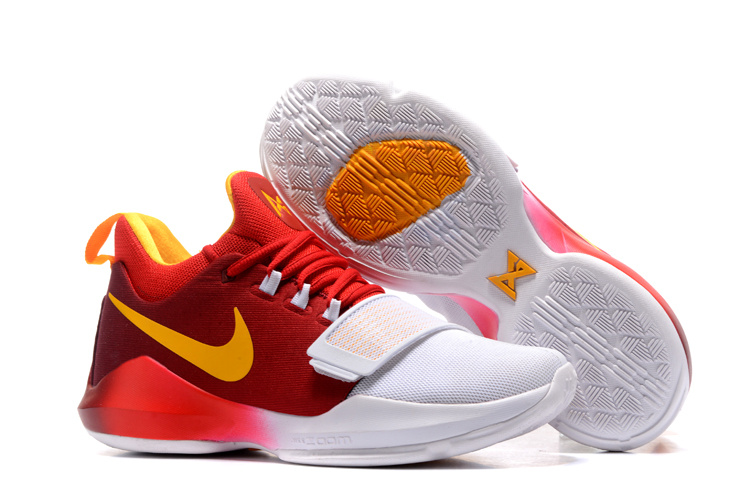 Nike PG 1 Ferocity Dark Red White Yellow Shoes
