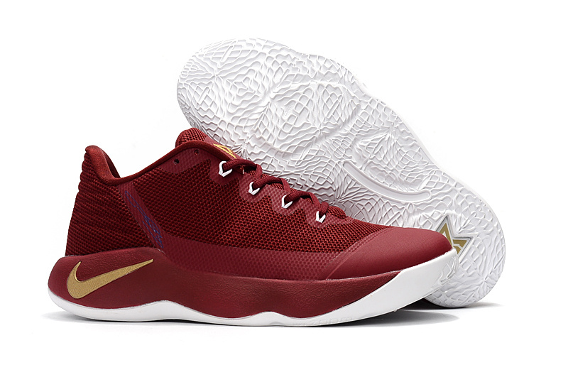 Nike PG 2 Wine Red Gold Shoes