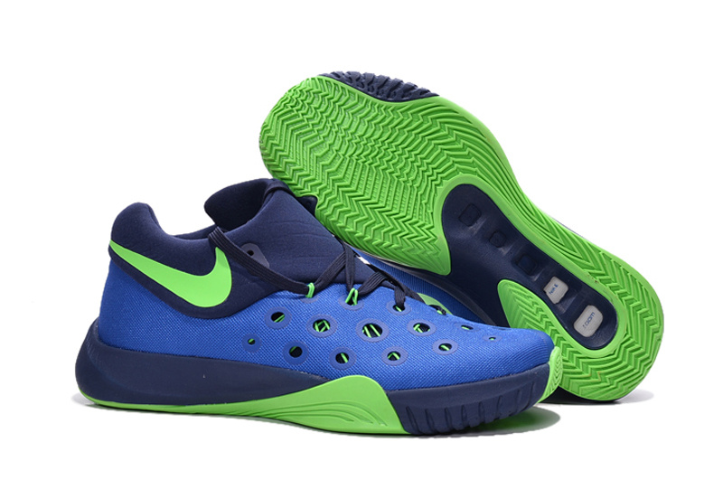 Nike Paul George 2016 Blue Green Basketball Shoes