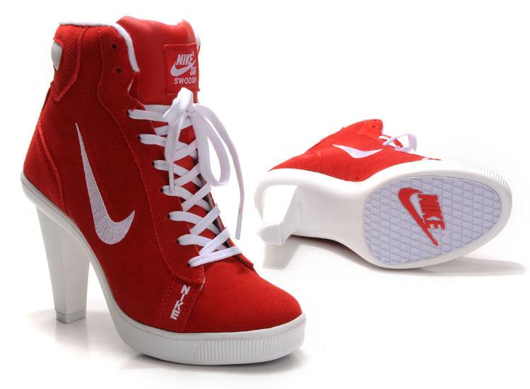 Nike SB High Heels Red White