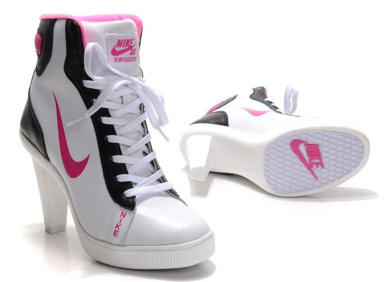 Nike SB High Heels White Black
