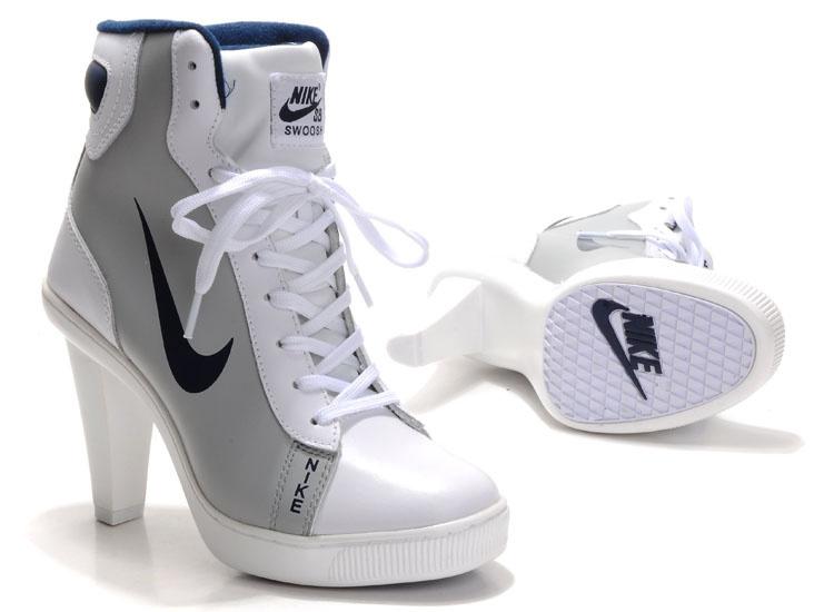 Nike SB High Heels White Grey Black