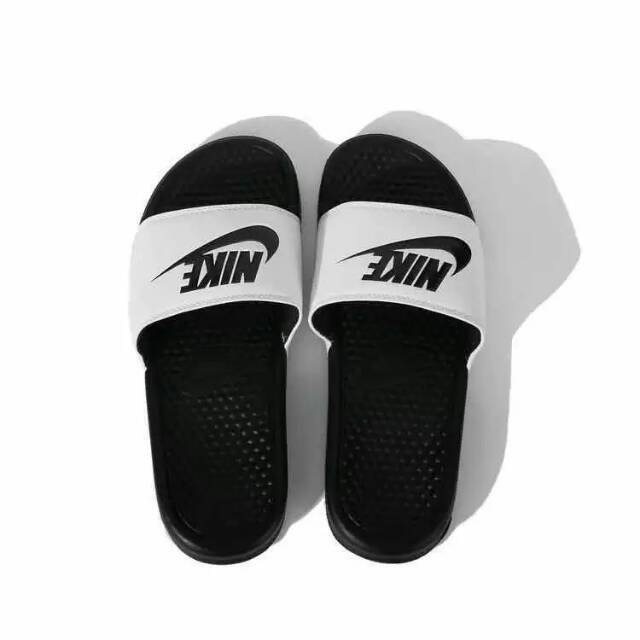 Nike Sandal White Black Swoosh