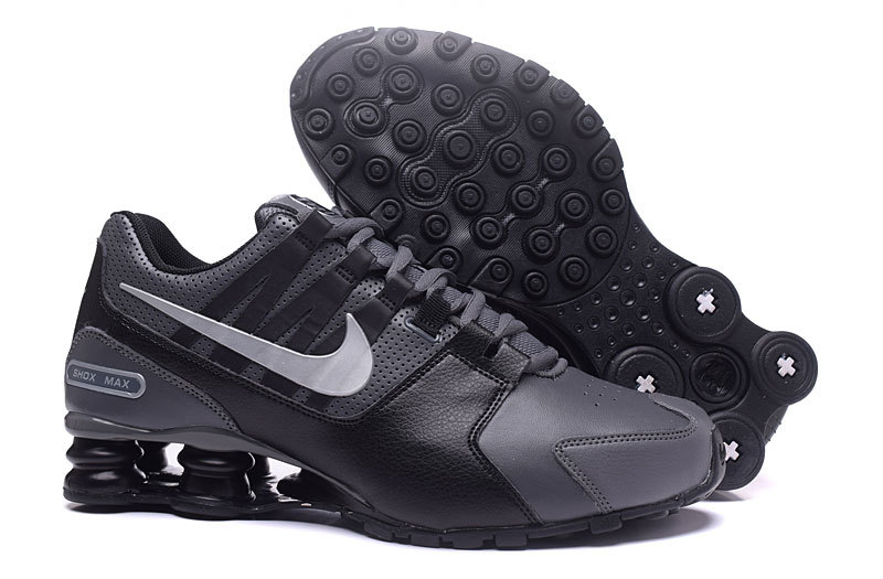 Nike Shox Avenue All Black White Shoes