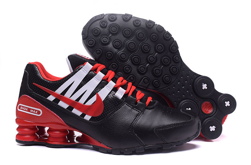 Nike Shox Avenue Black Red White Shoes