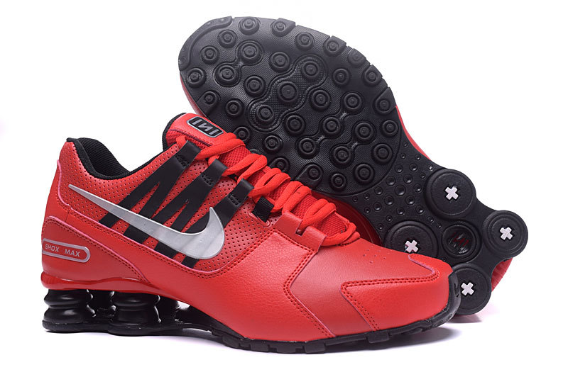 Nike Shox Avenue Red Black White Shoes