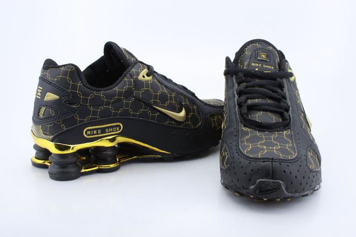 Nike Shox Moster Black Gold Shoes