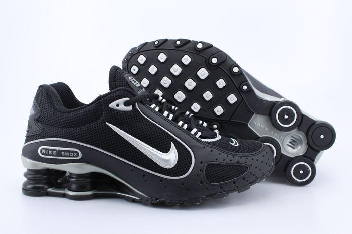 brand new b2967 73331 Nike Shox Moster Black Silver Logo
