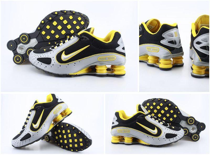 Nike Shox Moster Black Silver Yellow