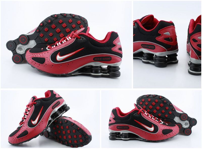 Nike Shox Moster Red Black Silver