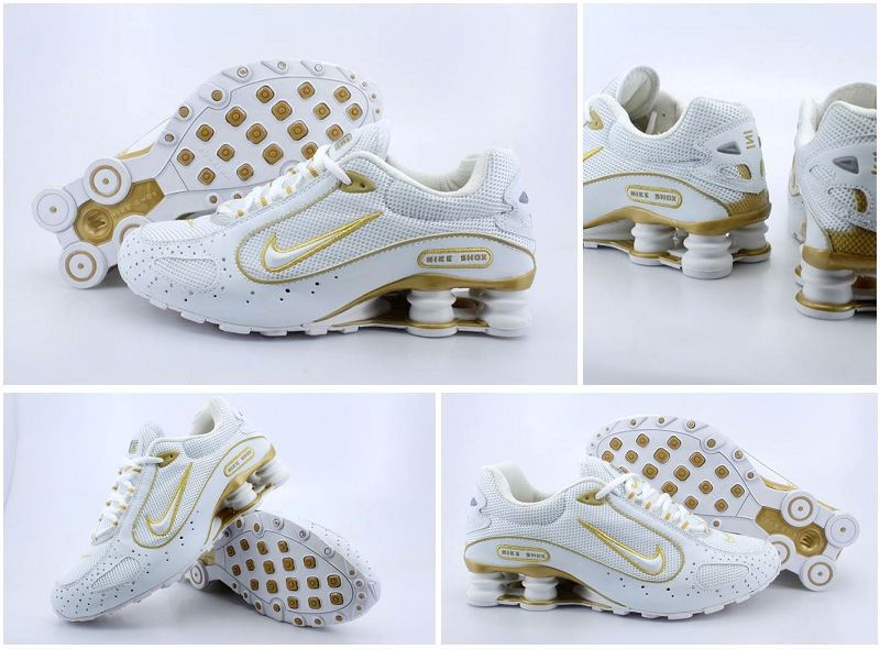 Nike Shox Moster White Gold