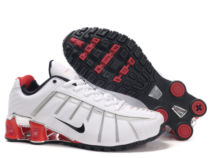 Nike Shox NZ III White Black Red Shoes