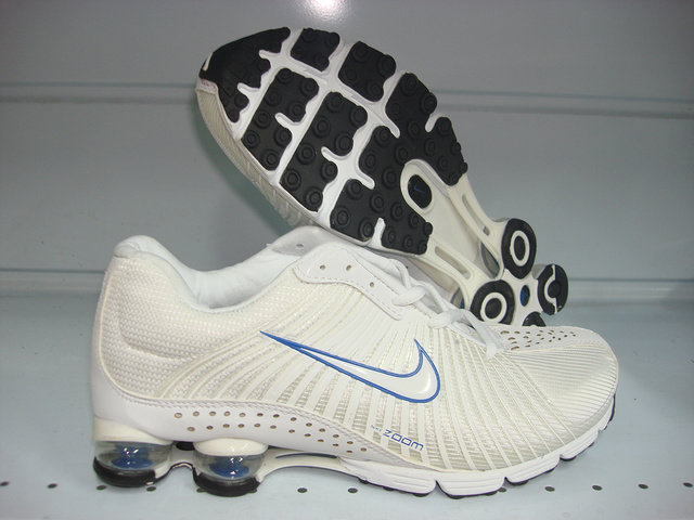 Nike Shox R1 White Blue Shoes