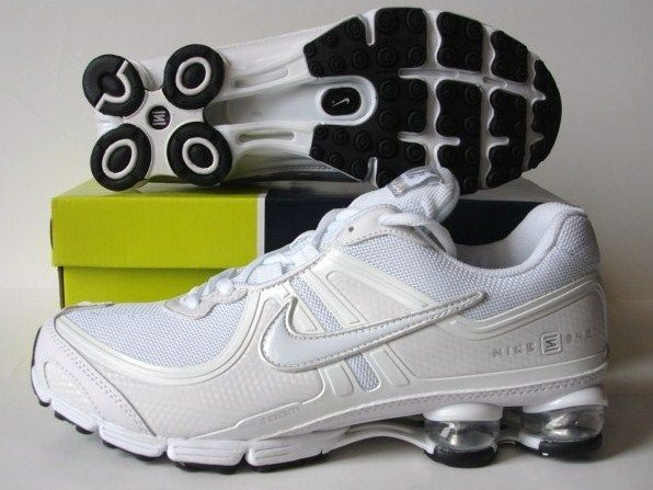 Nike Shox R2 All White Shoes