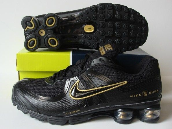 Nike Shox R2 Black Gold Shoes