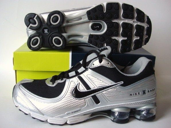 Nike Shox R2 Black Grey Silver Shoes