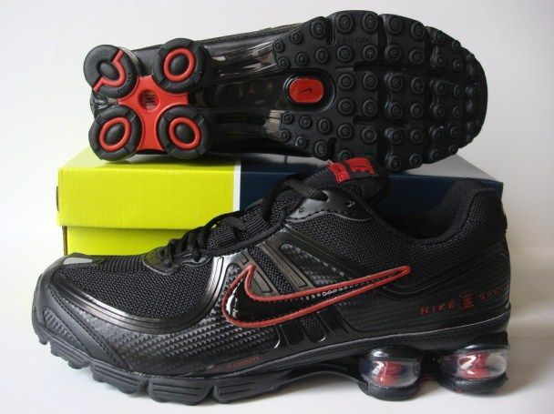 Nike Shox R2 Black Red Shoes