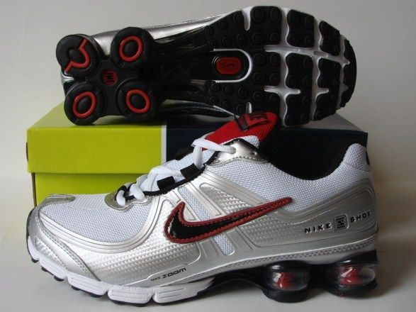 Nike Shox R2 Grey Silver Red Shoes