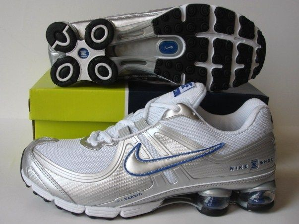 Nike Shox R2 Silver White Shoes
