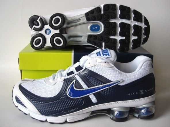 Nike Shox R2 White Deep Blue Shoes