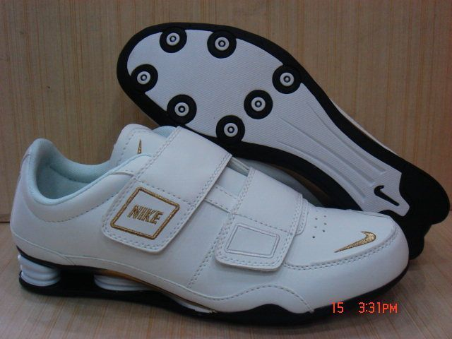 Women's Nike Shox R3 Magic Button White Gold Shoes