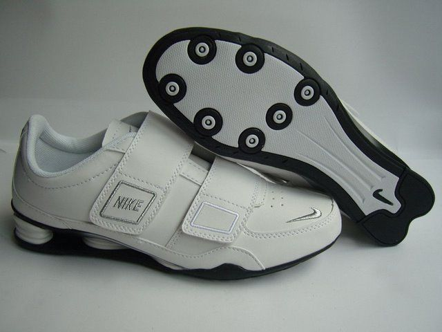 Women's Nike Shox R3 Magic Button White Silver Shoes