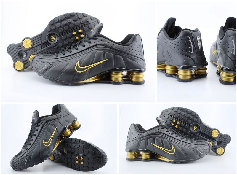 Nike Shox R4 Black Gold Shoes