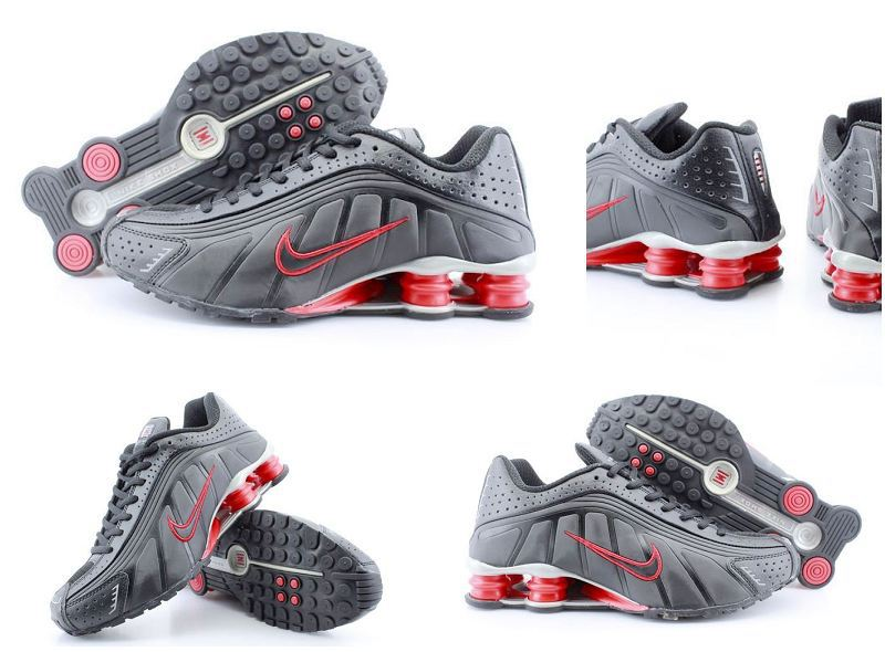 Nike Shox R4 Black Red Shoes