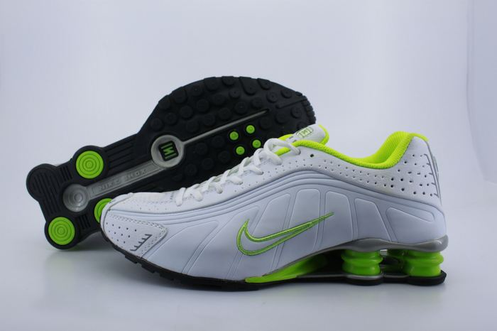Nike Shox R4 White Fluorscent Green