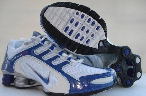 Nike Shox R5 White Blue Shoes