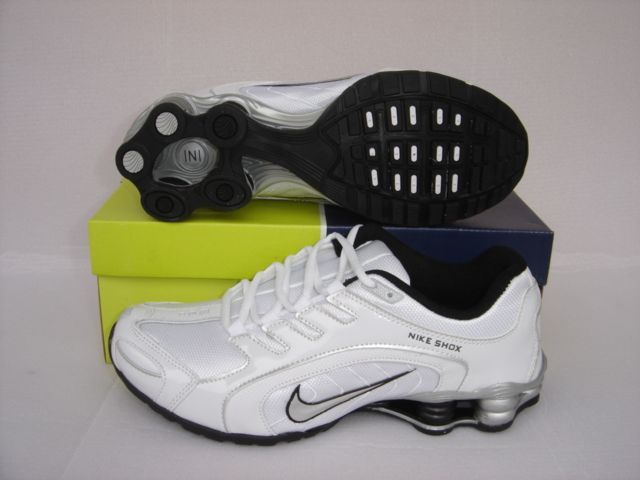 Nike Shox R5 White Silver Shoes