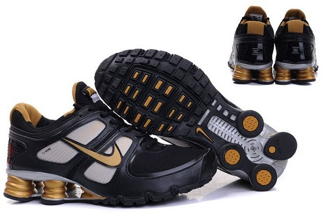 Nike Shox R6 Black Gold Shoes