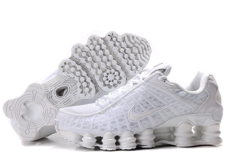 Nike Shox TL1 All White Shoes For Women