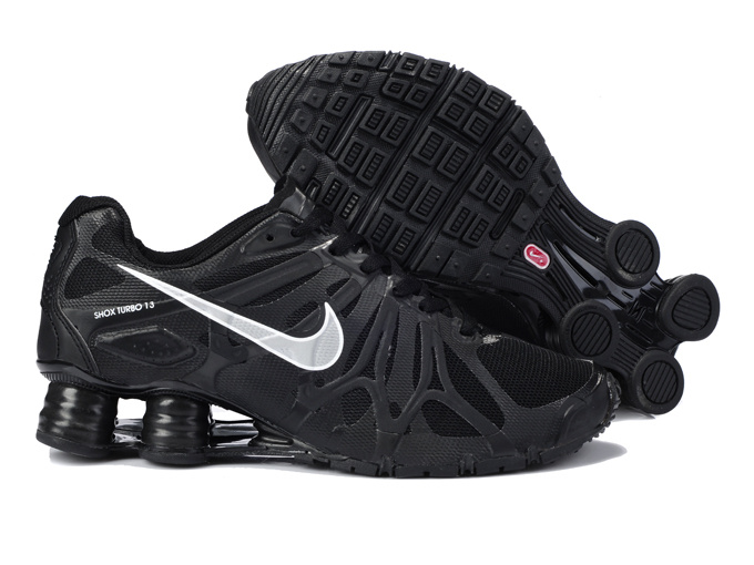 Nike Shox Turbo+13 All Black White Shoes