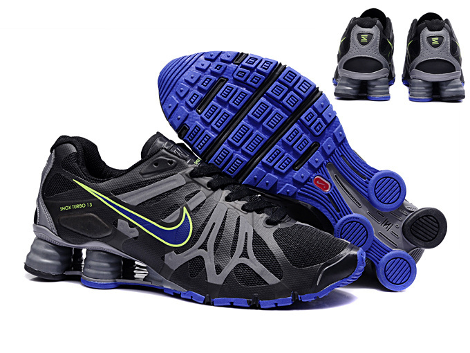 Nike Shox Turbo+13 Black Blue Shoes