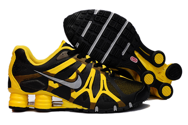 Nike Shox Turbo+13 Black Yellow Shoes