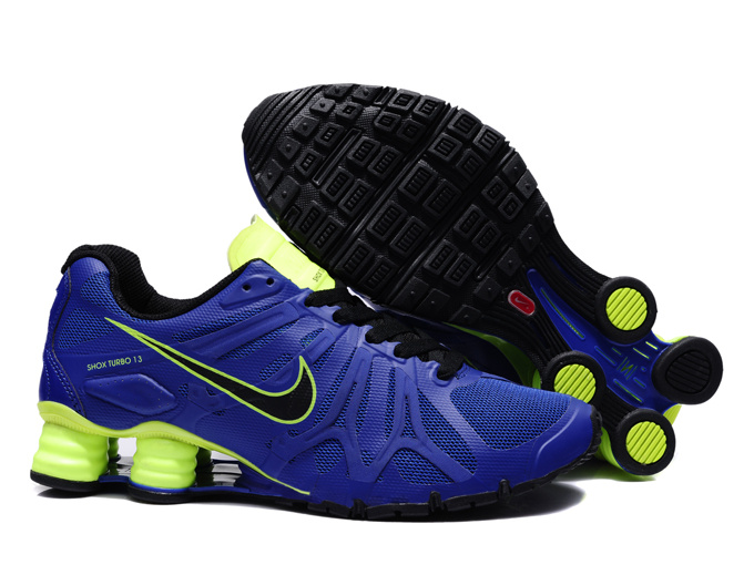 Nike Shox Turbo+13 Blue Black Volt Shoes