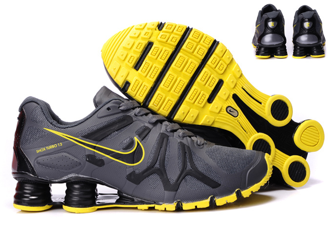 Nike Shox Turbo+13 Grey Black Yellow Shoes