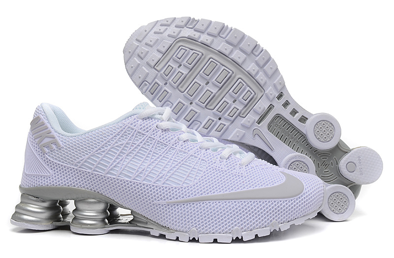 Nike Shox Turbo 21 All White Grey Shoes