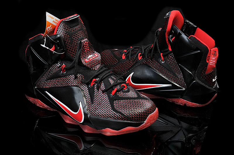 Nike Teenage Lebron James 12 Black Red Shoes
