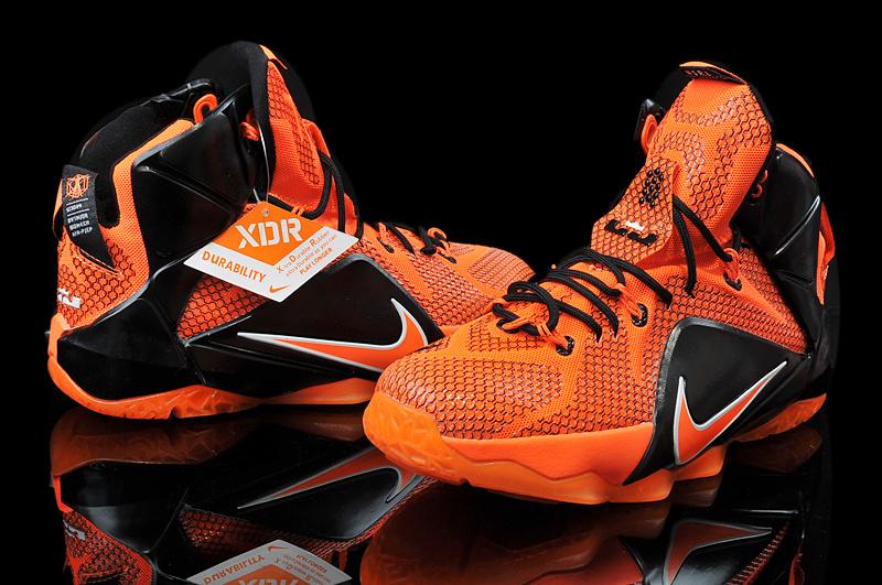 Nike Teenage Lebron James 12 Orange Black Shoes [NTL009 ...