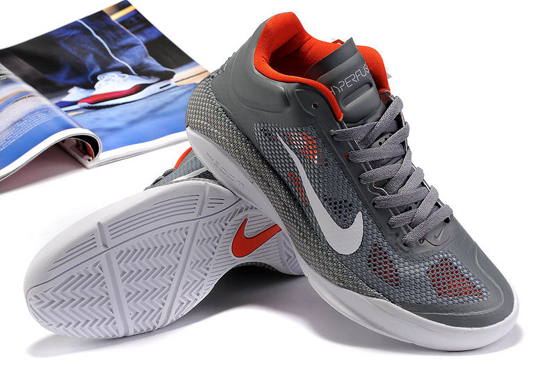 2014 Nike Hyperdunk XDR Low Grey White Orange