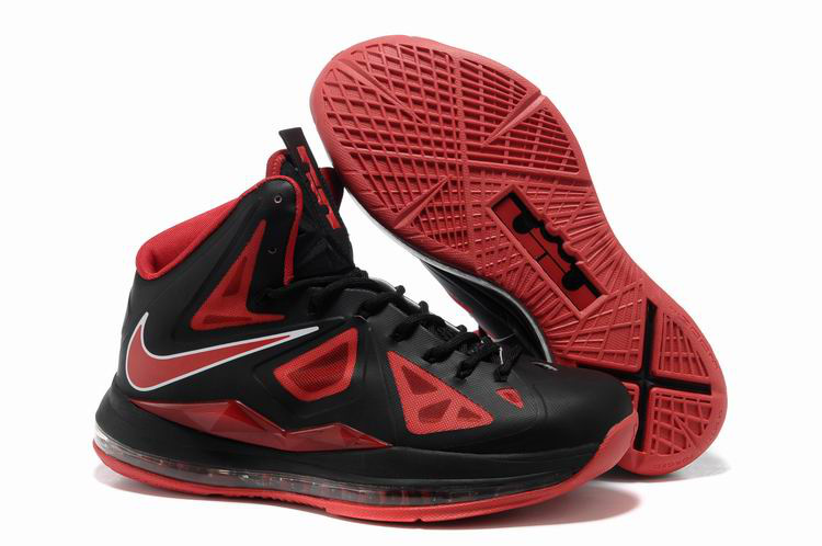 Nike Lebron James 10 Shoes Black Red