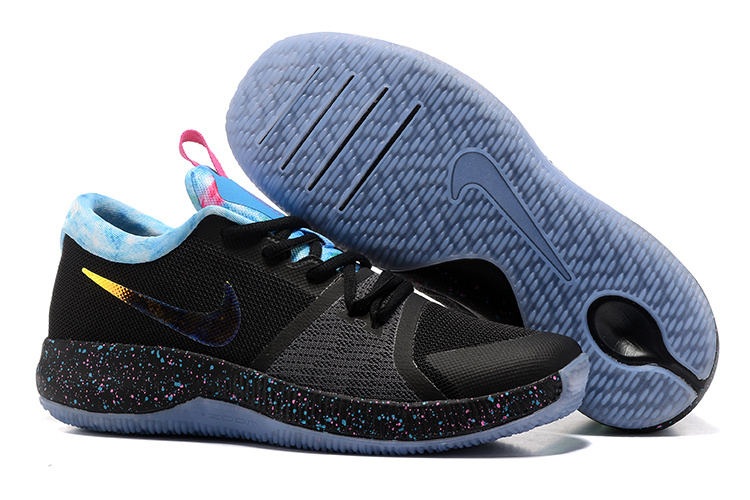 Nike Zoom Assersion EP Black Blue Ice Blue Sole Shoes