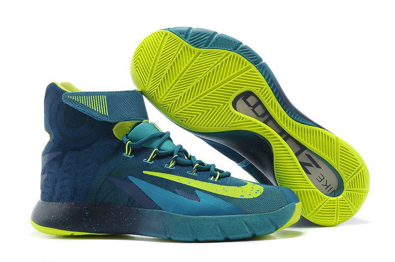 Nike Zoom HyperRev Kyrie Irving Blue Fluorscent Green Basketball Shoes