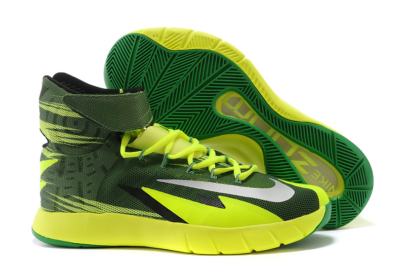 Nike Zoom HyperRev Kyrie Irving Fluorscent Green Basketball Shoes
