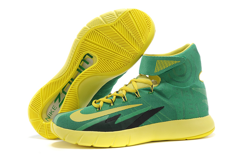 Nike Zoom HyperRev Kyrie Irving Green Yellow Black Basketball Shoes