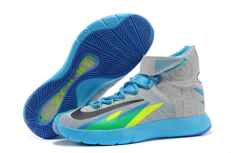 Nike Zoom HyperRev Kyrie Irving Grey Blue Green Basketball Shoes