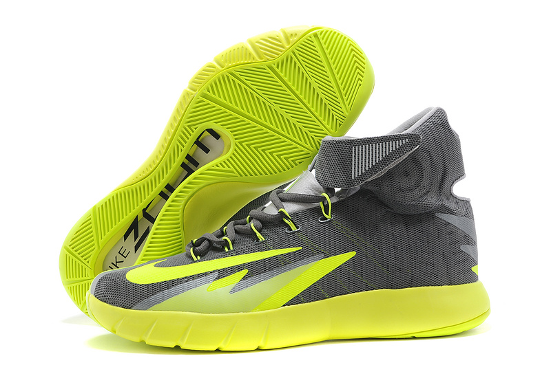 Nike Zoom HyperRev Kyrie Irving Grey Fluorscent Basketball Shoes